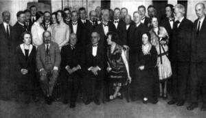 В.И. Вернадский в составе советской делегации во время Недели русской науки в Берлине, 1927 г.