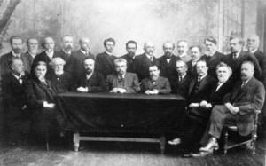 Группа профессоров Московского Университета, ушедших в отставку в знак поддержки демократических требований студентов, 1911 г.